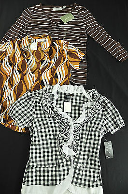 Women's Lot Of 3 Name Brand Tops Size Small-total Retail $113.00 Neutral B/w
