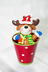 Clay-dough-Reindeer-w-hat-scarf-mittens-in-Bucket-Christmas-Tree-Ornament