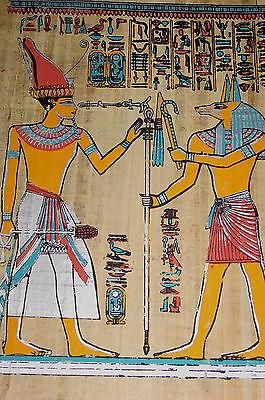Ägypten  Papyrus-Bild 30 x 40  Begegnung mit Anubis