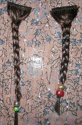 Jack Sparrow Pirate Captain Beard Braids Screen Accurate Authentic Trade Beads - Pirate Costumes Men