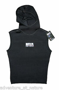 Hooded-Wetsuit-Vest-Size-M-3mm-Ultra-Stretch-Neoprene-Scuba-Diving