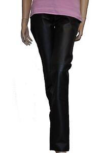 damen nappa lederhose schwarz five pocket jeans artikel. Black Bedroom Furniture Sets. Home Design Ideas