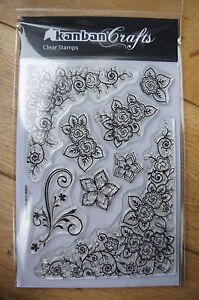 Kanban-Floral-Embellishments-Clear-Acrylic-Stamps-A6-sheet-NEW