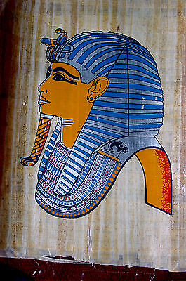 Ägypten Papyrus-Bild 30 x 40 cm  - Der junge Pharao