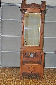 Antique Hall Tree Bench Ebay