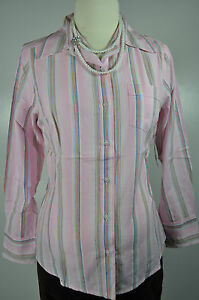 Amazing-NEW-NWT-Pink-Maternity-Button-Down-Long-Sleeve-Shirt-Top-Blouse-M-L-XL