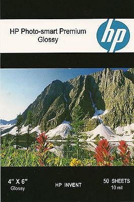 HP Photo-smart Premium 4 X 6 Gloss Photo Paper~200 ct~Borderless~WOW~COOL