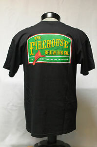 New-FIREHOUSE-BREWING-COMPANY-Black-or-Brown-T-SHIRT-Large-L-100-cotton-BEER