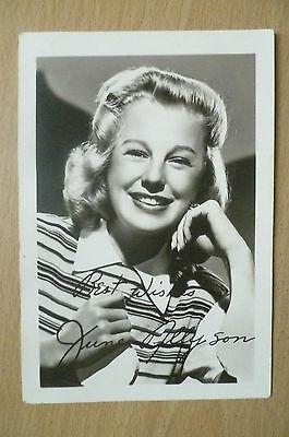 Original Photograph- June Allyson with print Autograph (apx.12.5x9 cm)