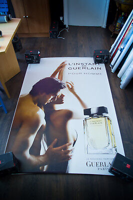 GUERLAIN SERGIO MUNIZ B 4x6 ft Bus Shelter Original Vintage Fashion Poster 2004