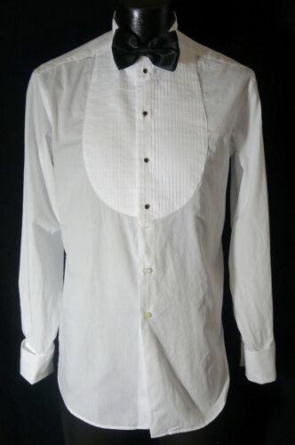 Giorgio Armani Black Label Tuxedo Shirt 15.5-33 W/Tie Studs & Cufflinks
