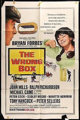 "Peter Sellers, Dudley Moore  THE WRONG BOX 1966 ONE-SHEET MOVIE POSTER 27"" x 41"""