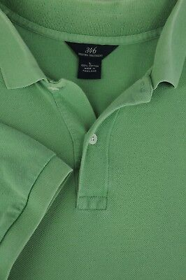 Brooks Brothers 346 Men's Sage Green Mesh Cotton Casual Polo Shirt L Large