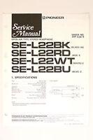 Pioneer Se-l22 Bk/rd/wt/bu Stereo Cuffie Orig. Manuale Di Servizio/ - pioneer - ebay.it