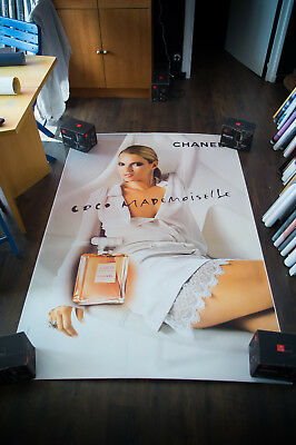 CHANEL KATE MOSS C 4x6 ft Bus Shelter Original Vintage Fashion Poster 2003