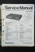 Technics St-x70 Fm/am Tuner Original Service Manual/service-manual/ -  - ebay.co.uk