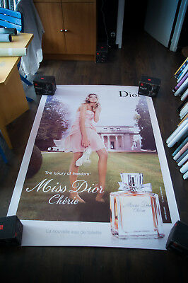 DIOR MISS CHERIE LILY DONALDSON 4x6 ft Bus Shelter Original Fashion Poster 2007