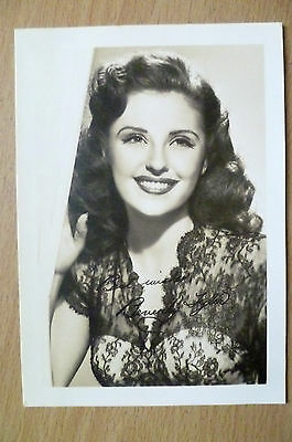 Vintage Photograph: Beverly Tyler with Printed Autographs (apx12.5x8.8 cm)