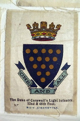 B.D.V. Cigarettes Silk- THE DUKE OF CORNWALL'S LIGHT INFANTRY 32nd & 46th Foot.
