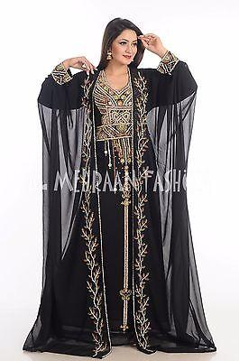 2017 ELEGANT MOROCCAN FANCY JILBAB ARABIAN DUBAI ABAYA WEDDING GOWN DRESS  507