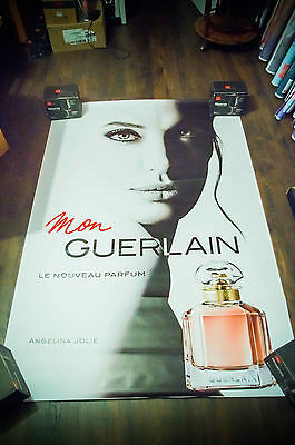 GUERLAIN ANGELINA JOLIE Style A 4x6 ft Shelter Original Vintage Fashion Poster