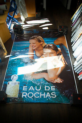 ROCHAS EAU DE ROCHAS B 4x6 ft Bus Shelter Original Fashion Vintage Poster 1997
