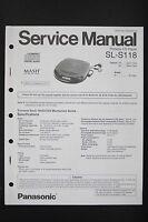 Panasonic Sl-s118 Originale Lettore Manuale Di Servizio/schema Elettrico/ - panasonic - ebay.it
