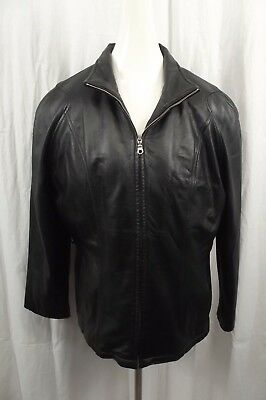 Wilsons Womens 100% Leather Jacket L Large Coat Full Zip Thinsulate Ultra Zip