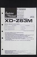 Pioneer Xd-z63m Originale Cd/nastro/amplificatore Manuale Di Servizio/ - pioneer - ebay.it
