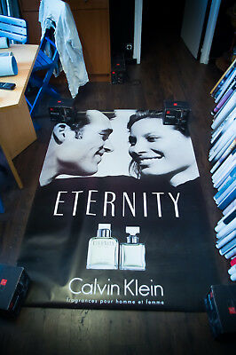 CALVIN KLEIN ETERNITY B 4x6 ft Shelter Original Vintage Fashion Poster 1997