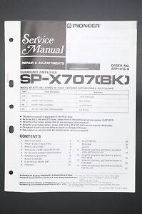 Pioneer-sp-x707-ORIGINAL-MANUAL-DE-SERVICIO-REPAIR-amp-AJUSTES-ESQUEMA-conexiones