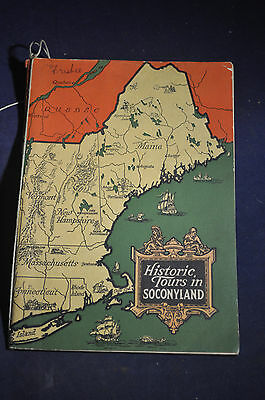 1925 Historic Tours in Socony Land, New England Travel Brochure