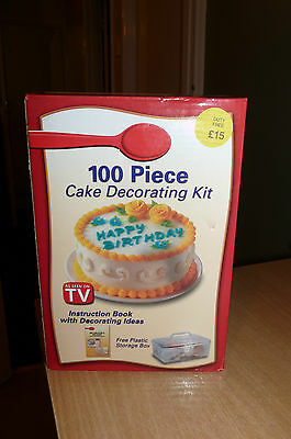 Cheap Cake Boxes (100 PIECE CAKE DECORATING KIT - NEW IN BOX - COST £15 - SILLY CHEAP)