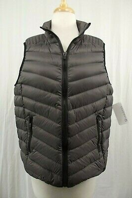 NEW Fabletics Vest Jacket Coat XL X-Large Gray NWT Down Feathers Puffer