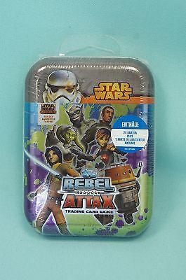 Topps Star Wars Rebel Attax Mini Tin Box  OVP  24 Karten + Limitierte Auflage