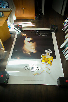 GUERLAIN MITSOUKO 4x6 ft Shelter Original Vintage Fashion Poster 1997
