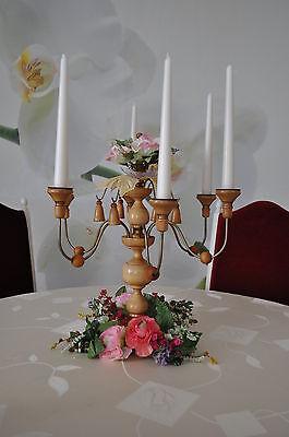 Arm-leuchter (Holzleuchter, Kandelaber, Tischspinne, 6-Armleuchter,  Drechselarbeit Erzgebirge)