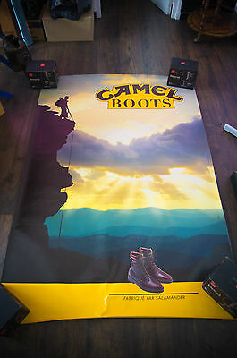 CAMEL BOOTS 4x6 ft Bus Shelter Original Vintage Fashion Advertising Poster 1993