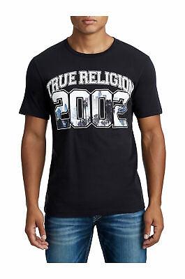 True Religion Herren Skyline Logo Grafik T-Shirt 2XL Nwt Kurzärmelig Schwarz Ss (True Religion Shirt Schwarz)
