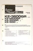 Pioneer Ke-3600/2600/300qr/1550 Original Manual De Servicio/instrucciones/ - pioneer - ebay.es