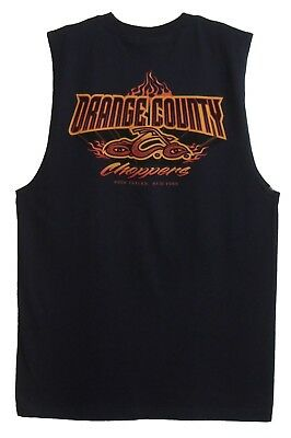 Orange County Choppers  Occ  Mens T Shirts Sleeveless Navy Blue