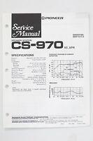 Pioneer Cs-970 Originale Altoparlante Sistema Manuale Di Servizio/istruzioni/ - pioneer - ebay.it