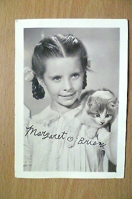 Vintage Real Photograph: Margaret O'Brien with Printed Autographs
