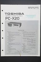 Toshiba Pc-x20 Original Service Manual/guide/ Wiring Diagram O43 - toshiba - ebay.co.uk