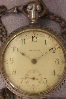 18s Waltham model 1883 grade 81 pocket watch in running order, 15 jewels