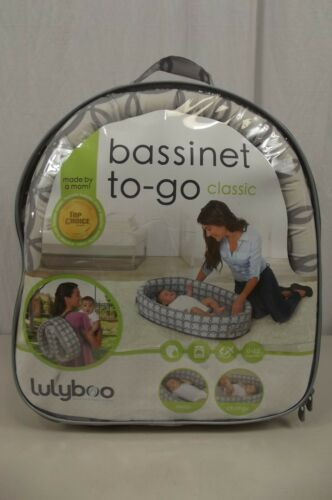 LULYBOO Bassinet to-Go Metro Classic Grey & White Fast Shipping!