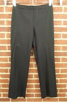 Lafayette 148 NY Womens Sz 8 Pants Black Slacks Wool Menswear Dress Suit Career Suiting Menswear Pant