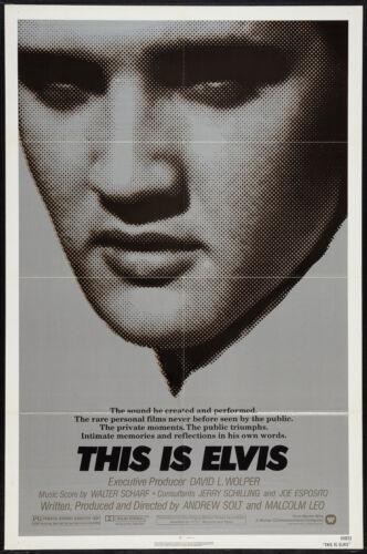 THIS IS ELVIS original 1981 Documentary one sheet movie poster ELVIS PRESLEY