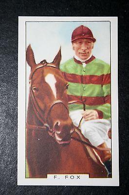Horse Racing   Champion Jockey   Fox  Original 1930's Vintage Card  VGC