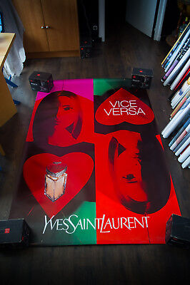YSL VICE VERSA 4x6 ft Shelter Original Fashion Vintage Poster Vintage 1999